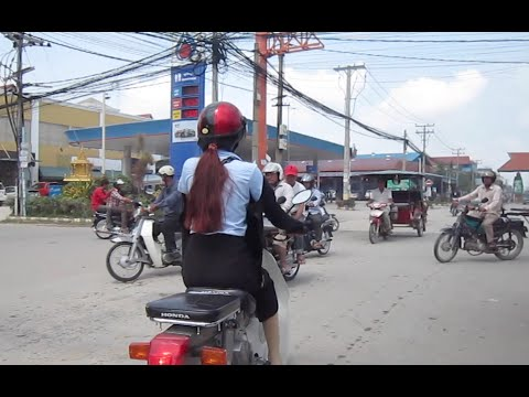 Traveling in Phnom Penh city in slow motion