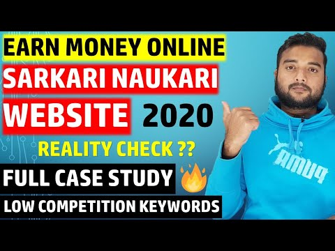 Earn $500 From Sarkari Naukri Govt Job Website in 2020 (Hindi)-Case Study & Low Competition Keywords