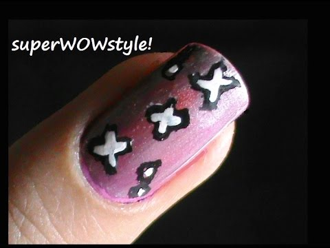 Cute Crosses Nail Designs For Beginners Youtube