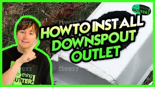 How To Install an Outlet for a  2x3 Downspout