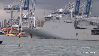 RNZN Ships Departing Devonport Naval Base New Zealand - 2020.