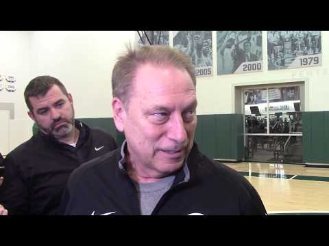 Tom Izzo Earlier Today Talks Potential B1G Title, Seniors & More!