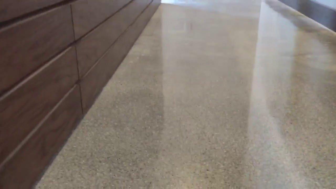 Concrete Floor Tiles >> POLISHED CONCRETE AFTER TILE REMOVAL - YouTube