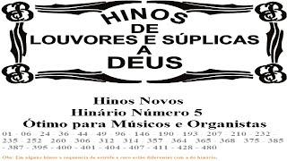 Hinos CCB Tocados Órgão HINÁRIO Nº 5 Completo