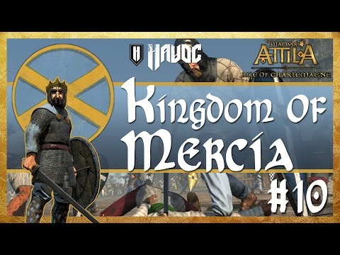 Total War: Attila - Age of Charlemagne - Kingdom of Mercia #10   The War in the North!