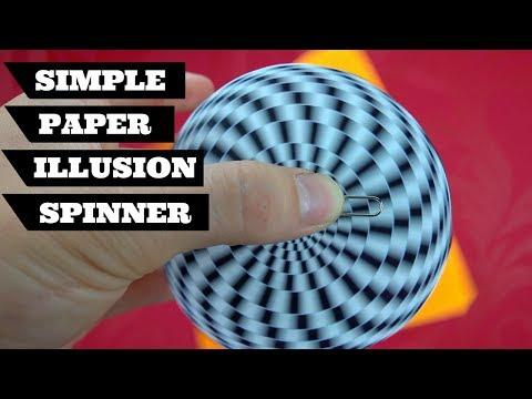 So Simple Illusion Fidget Spinner Diy   Paper Fidget Spinner No Bearing