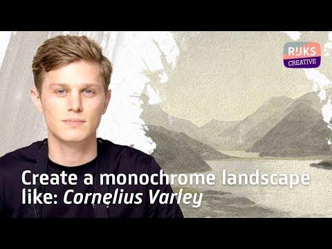 Watercolor Tutorial | How to create a monochrome landscape | Rijksmuseum thumbnail