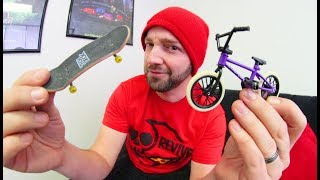 FINGER BMX VS  FINGER SKATEBOARD! / Which is better!?