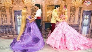 Princess Barbie Rapunzel doll Pink Castle Day Routine Ball Dance Kastil  merah muda Barbie Castelo d4a02bb2f9