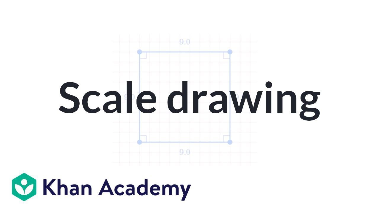 Making a scale drawing (video)   Geometry   Khan Academy [ 720 x 1280 Pixel ]