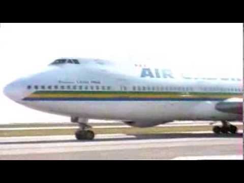 Boeing 747-200 Air Gabon in Nice (1990's)