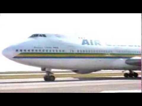Boeing 747-200 Air Gabon in Nice (1990's)