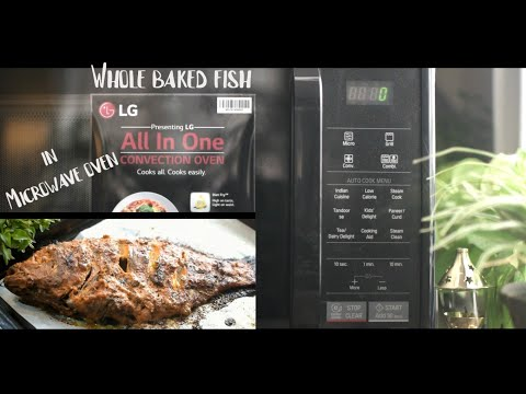 Whole Baked Fish In Microwave Oven Using LG Microwave Oven