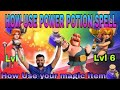 Clash of clan: How use power potion magic item?