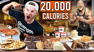 I Tried To Eat THE ROCK'S HIGHEST CALORIE Cheat Meals!