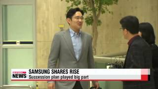 Shares of Samsung Electronics rise despite company chairman