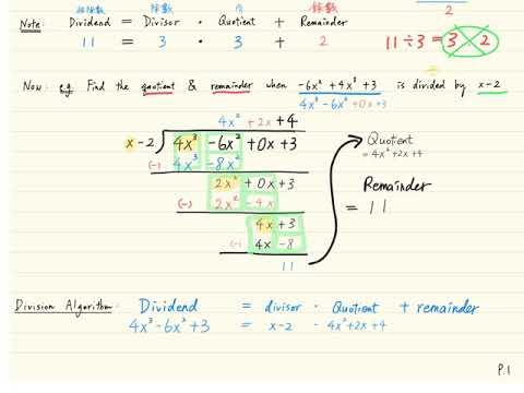 F4 Ch05 Polynomials - Lecture - B.3 - Division Algorithm