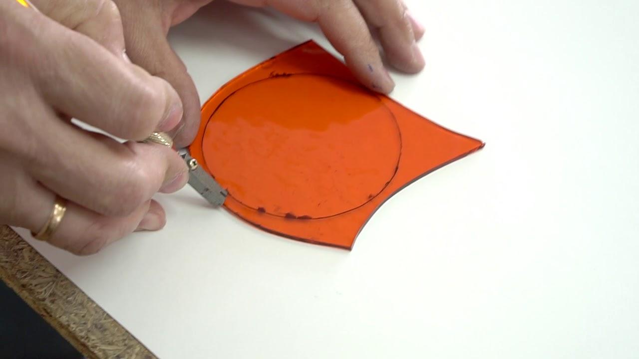 Как вырезать круг из стекла? - студия Пивоваровы - How to cut the circle from stained glass?