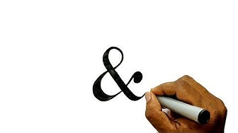 How to Draw the And Sign (&)