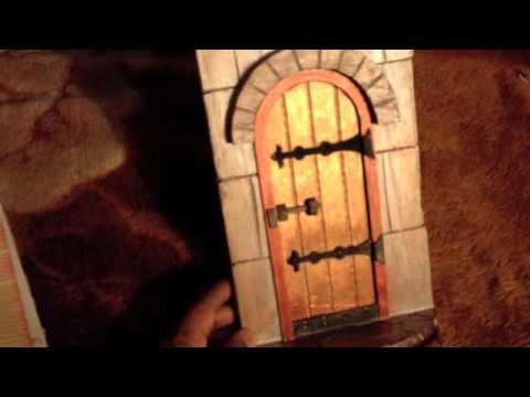 Fairy doors youtube for Unfinished fairy door