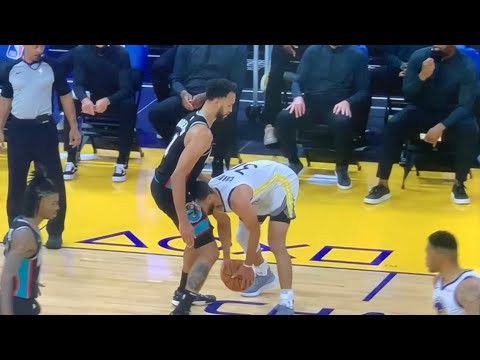 Warriors Steph Curry Highlights: Uses His Head In An Unusual Way To Score On Grizzlies Kyle Anderson - Vlog