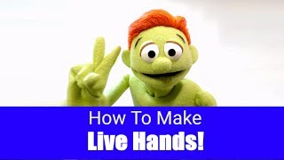 How To Make A Live Hand Puppet! - Part 9 - Puppet Building 101