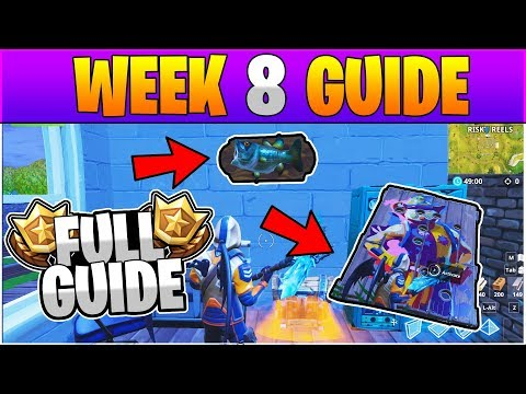 Fortnite ALL Season 6 Week 8 Challenges GUIDE! FULL Week 8 Challenge Guide - Fortnite Battle Royale