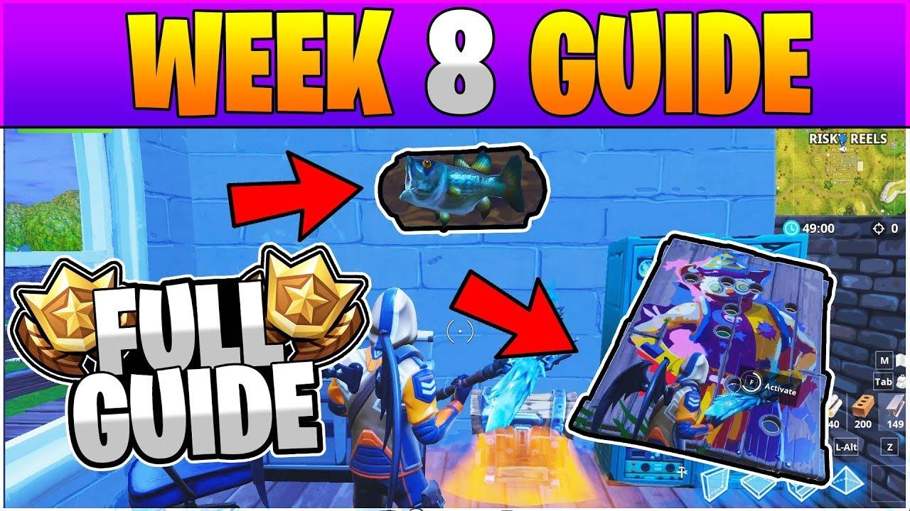 Fortnite All Season 6 Week 8 Challenges Guide Full Week 8 Challenge