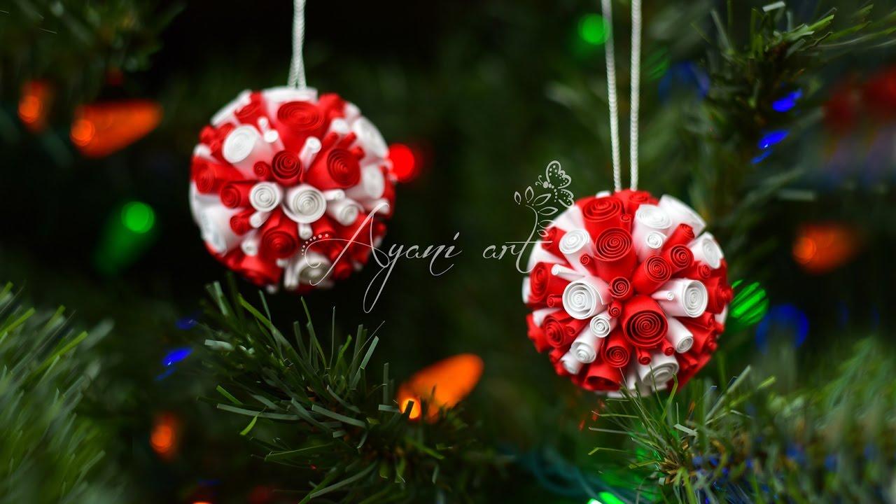 Tutorial quilling adornos para el rbol de navidad - Adorno para el arbol de navidad ...