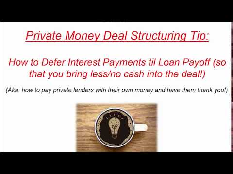 How To Pay Private Money Lenders with Their Own Money (Priva