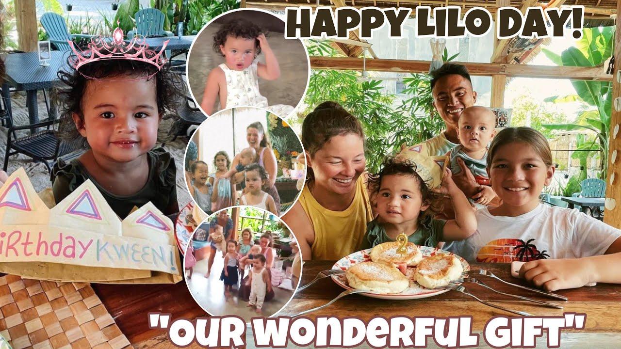 """Ang """"Wonderful Gift"""" ni mama Andi at papa Philmar ay si Lilo ❤️ Ang games sa bday ni Lilo ang saya!"""