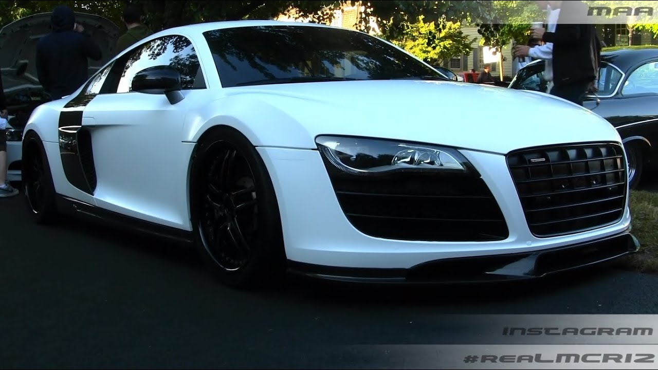 MATTE White Audi R8 - Sound!! - YouTube