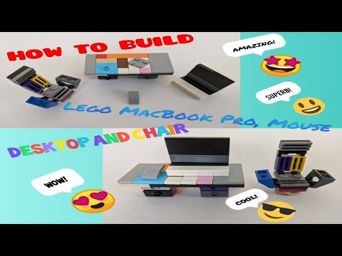 How to build Lego MacBook Pro Mouse Desk and Chair video 2020