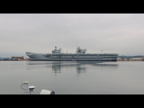HMS Queen Elizabeth Takes To The Seas