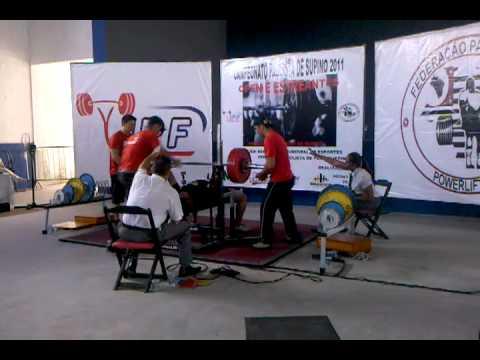 Campeonato Paulista de Supino IPF Marlon Meyer de Souza até 105kg Jr ...
