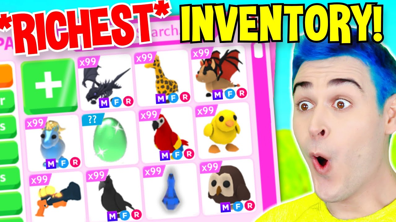 Download *RICHEST* Adopt Me INVENTORY!! *EVERY* MEGA NEON Legendary Dream Pet And RAREST Items (EXPENSIVE)