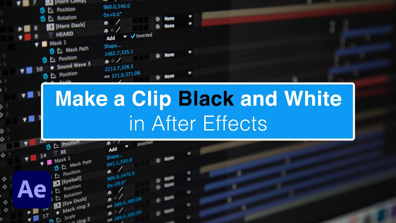 Evf tutorial make clip black and white in adobe after effects youtube