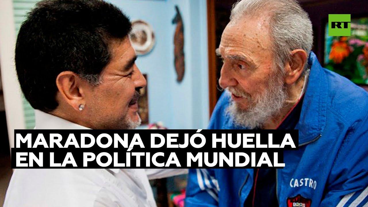 Diego Maradona, una figura que dejó huella en la política mundial