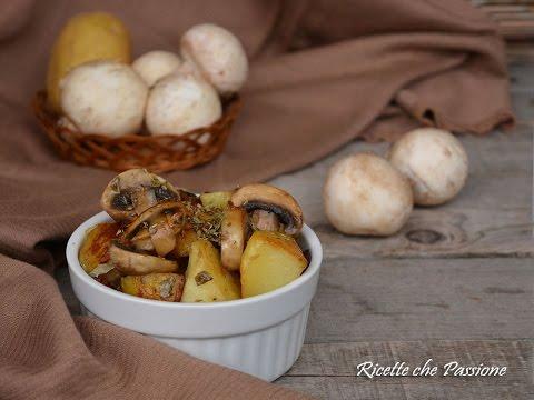 Patate con funghi In padella non fritto