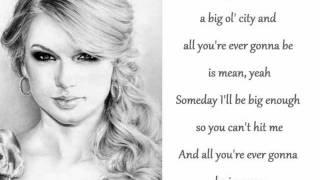 Mean - Taylor Swift (karaoke/instrumental)