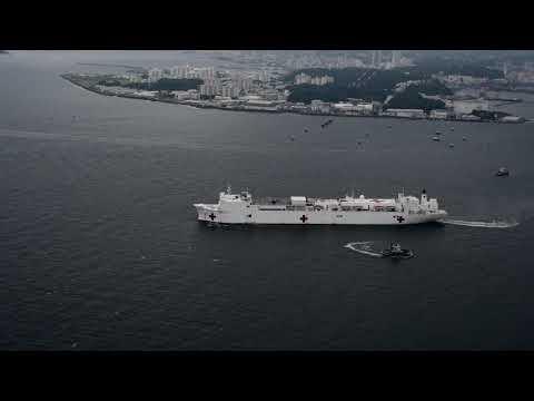 DFN:USNS Mercy Departs Yokosuka (B-Roll), YOKOSUKA, KANAGAWA, JAPAN, 06.15.2018