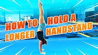 Gymnastics How To H๐ld A Handstand Longer  Rachel Marie