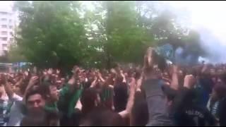 Kocaelispor taraftarları Eskişehir'i inletti