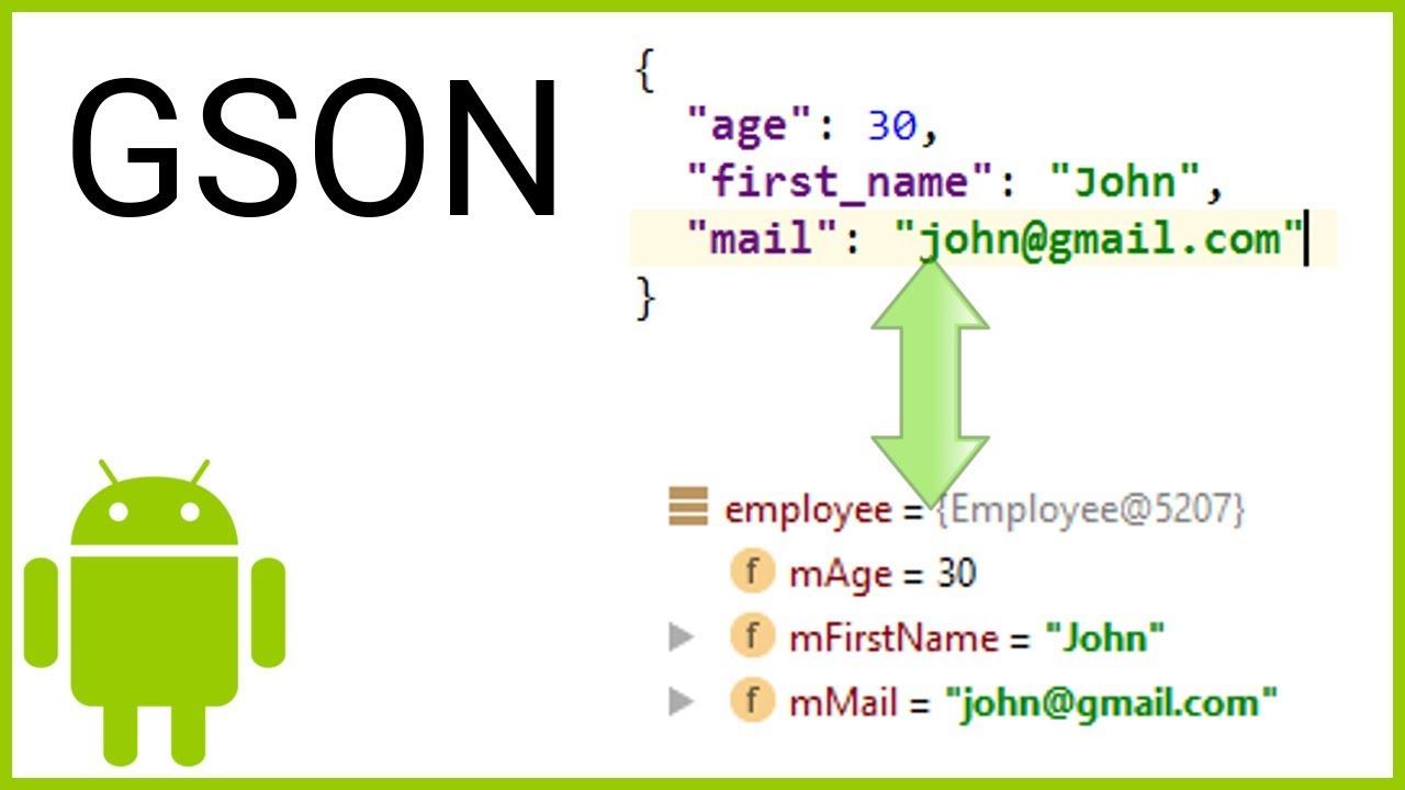 GSON Tutorial Part 1 - SIMPLE (DE)SERIALIZATION - Android Studio Tutorial