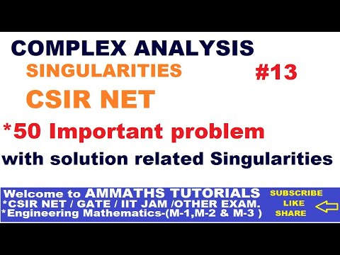 Complex Analysis-Singularities Objective  50 Problem  || Singularities of Complex analysis in Hindi