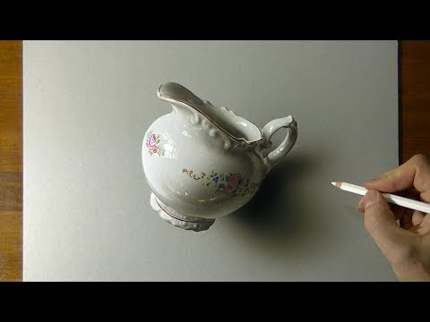 Drawing Of A Milk Jug That Looks More Real Than Life