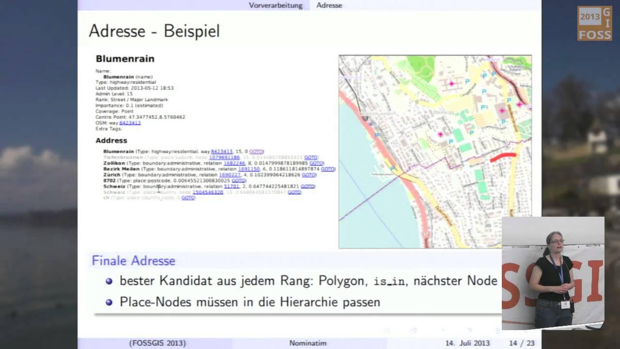 2013 - Sarah Hoffmann: Der OpenStreetMap-Geocoder Nominatim