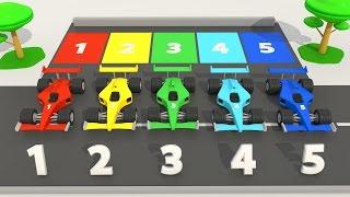 Парковка Машинки Изучаем Цвета Гоночные Машинки | Учим цвета и цифры | Считаем до 10