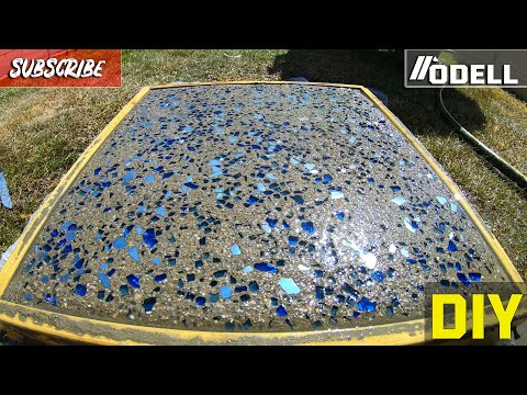 How to Make GLASS CONCRETE Stepping Stone Pavers