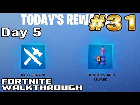 Fortnite Walkthrough #31 - Day 5 Login Rewards and Info